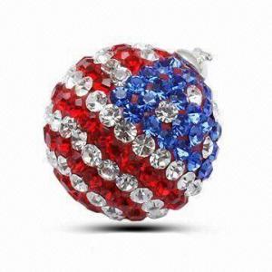 Quality Crystal Stone/Swarovski Strawberry Pendant, Italian Style for sale