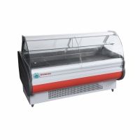 Quality ETL Approved Butchery Shop Glass Door Service Counter Deli Meat Show Case Refrigerator for sale