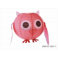 """Quality Pink Blue Angry Cute  Birds Kids Paper Lanterns , 10"""" 12"""" Animal Print Hanging Paper Lanterns for sale"""