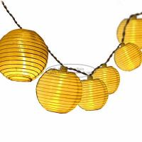 Quality White solid color Paper Lantern String Lights led indoor decoration birthday wedding party for sale
