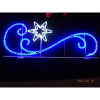 Quality led holiday skylines decorative 2d motif outdoor christmas street light decoration for sale