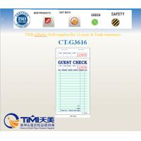 Buy cheap CT-G3616 guest checks 1parts ,green color factory supply from China Timipaper from Wholesalers
