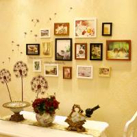 Quality wholesale 15 pcs photo wall home design photos Wedding Series Photo Frame Wall for sale