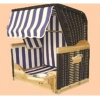 Quality UV Resistant Waterproof Roofed Wicker Beach Chair For Dog / Cat for sale