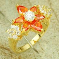 Quality fashion jewelry manufacturer wholesale handmade wonderful jewelry  flower shape ring  amethyst for sale