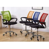 Quality Green Fixed Armrest Mesh Office Swivel Chair for sale