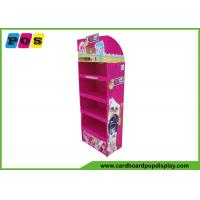 Quality Four Shelves Retail Cardboard Pop Displays For Plush Toys Promtion FL036 for sale