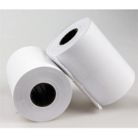China 80X80mm  80X70mm one single 1 layer ply POS white thermal paper rolls for cash register on sale