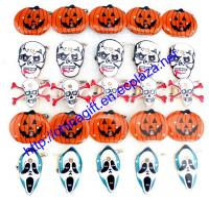 China Flash/Luminous LED Badge Medal Devil & Pumpkin Brooch for Halloween on sale