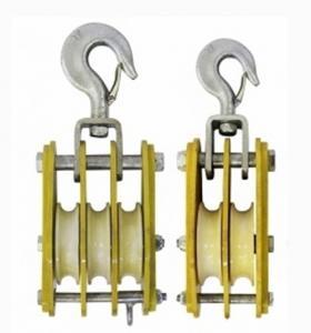 China 50KN Nylon Sheave Hoisting Tackle Conductor Stringing Tools on sale