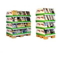 Quality Creative design Cosmetic floor Cardboard Pallet Display for supermarket showcases for sale