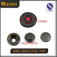 Buy custom metal snap button in 17mm with you logo in high quality at wholesale prices