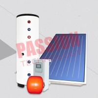 Quality Blue Titanium Red Copper Flat Plate Split Solar Water Heater for sale
