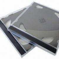 Quality 10mm Black Double CD Cases, Made of PS, Measures 14.2 x 12.3 x 1.04cm for sale
