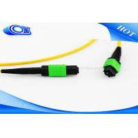 Quality Customized Length MTP MPO Connector Single Mode Optical Fiber Patch Cord for sale