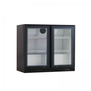 Quality Commercial Under Counter Or Bar Top Black Single Glass Door Beer Cooler for sale