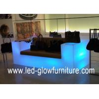 Quality Modern Hotel Nightclub Bar illuminated glowing Sofa with Bluetooth smart control by iphone for sale