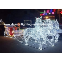 Quality christmas horse lighted carriage for sale