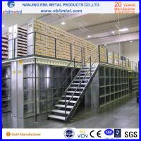 Quality Steel Mezzanine Racking / Storage Racking 2-3 Layers Steel Floor with white blue orange colors for sale