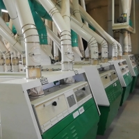 Buy cheap 200 TPD Industrial Flour Mill Machine 48*12*20 M Flour Mill Plant from wholesalers