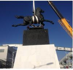 Quality Large Modern cast Bronze Horse Sculptures for sale