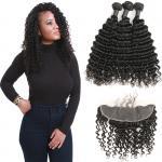 Quality Romance Curl Virgin Brazilian Hair Extensions / 100 Brazilian Human Hair Weave for sale