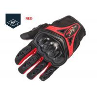 Quality Riding Aftermarket Motorcycle Accessories Red Blue Touch Finger Full Finger Motorcycle Gloves for sale