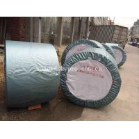 China Rubber Ribbed Nylon Conveyor Belt High Strength For Stone , Flame Resistant on sale