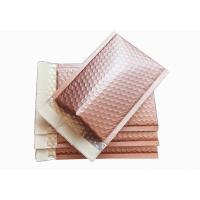 Quality Rose Gold Metallic Bubble Envelopes , 6 X 9 Metallic Foil Bubble Mailers Self Seal for sale