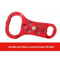 Quality Red Color 6pcs Padlocks Equipped  Double-end Aluminum Safety Lockout Hasp for sale