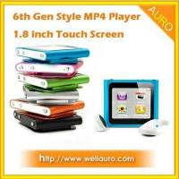 6th Gen Style 1.8 inch Touch Screen Mp4 Player