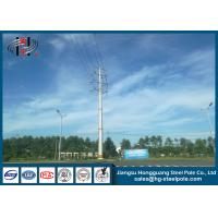 Buy cheap 15-30M Conical Electric Power Tapered Steel Pole with High Quality from wholesalers