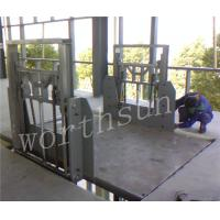 Quality 1.5kw-12kw Vertical Cargo Lift platform double-side guide rail for sale