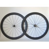 Quality T700 Road Bike Carbon Cycling Wheels 20 / 24 Spoke Holes And Basalt Brake Surface for sale