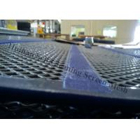 Quality Gravel Secondary Crusher Self Cleaning Screen Mesh Panel With 30mm PU Band for sale