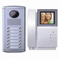 Quality 4-inch B/W or Color Video Intercom Doorbell with Unlocking and Monitoring Function for sale