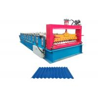 Quality Galvanized Steel Corrugated Sheet Roll Forming Machine Working Speed 10-15 M/Min for sale