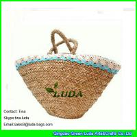 Quality fashion seagrass straw bags natural wicker beach bag for sale