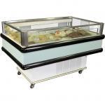 Quality Dual Temp Supermarket Island Freezer R404a Refrigerant Air Cooling System for sale