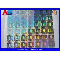Quality Custom Holographic Stickers , Anti Fake 3D Hologram Stickers Printing for sale