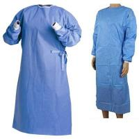 China Polypropylene Hospital Throw Away Overalls , Light Weight Disposable Patient Gowns  on sale