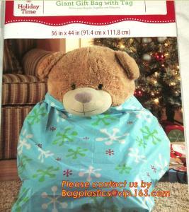 China table bag BIODEGRADABLE Christmas tree removal bag, hot sale drawstring chirstmas santa sack gift bag on sale
