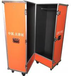 China Customized Bright Color Closet Case , Folding Aluminium Flight Case For Clothes on sale