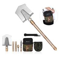 Quality Multifunctional Outdoor Leisure Products All In One Military Shovel Foldable And Portable for sale