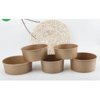 China Microwavable Customised Kraft Paper Bowls , Small Paper Bowls With Lids on sale