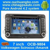 China Ouchuangbo Car GPS Navi DVD Player for Volkswagen Scirocco /Amarok Auto Radio Android 4.2 System OCB-9804 on sale