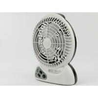 Quality Plastic 2300mAh LED Rechargeable Fan 3 PCS LED With Charging Cable for sale