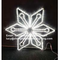 Quality outdoor lighted snowflakes for sale