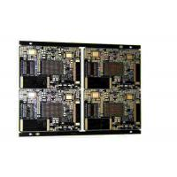 China Industrial 4 Layers Rigid PCB Board With Black Soldermask And White Silkscreen on sale