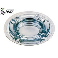 China Round Cigar Ashtray With Dish Bottom 1.2mm Thickness For Hotel on sale